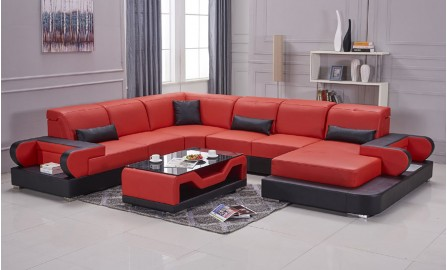 Gainsworth-U- Leather Lounge Set