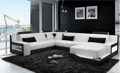 Charade Leather Sofa Lounge Set
