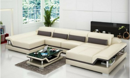 Nexus - U2 - Leather Sofa Lounge Set