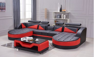 Eclipse Leather Sofa Lounge Set