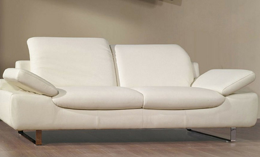 Peach Leather Sofa Lounge Set