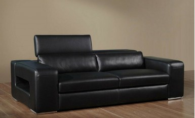 Boxstripe 3 Seater Leather Sofa