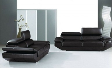 Kenny Armchairs Leather Sofa Lounge Set