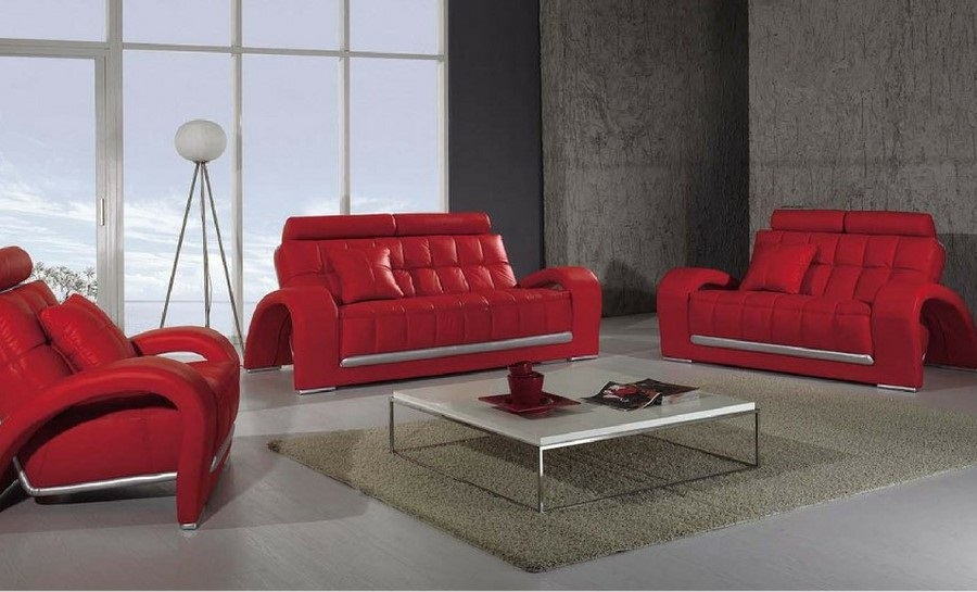 Alphabet Leather Sofa Lounge Set