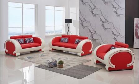 Opal Leather Sofa Lounge Set