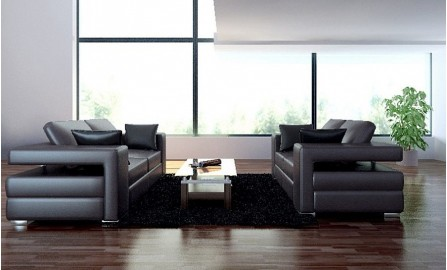 Layeris Leather Sofa Lounge Set