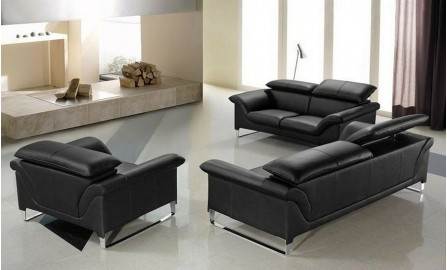 Floaty Leather Sofa Lounge Set