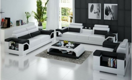 Vaultair- Armchair Leather Lounge Set