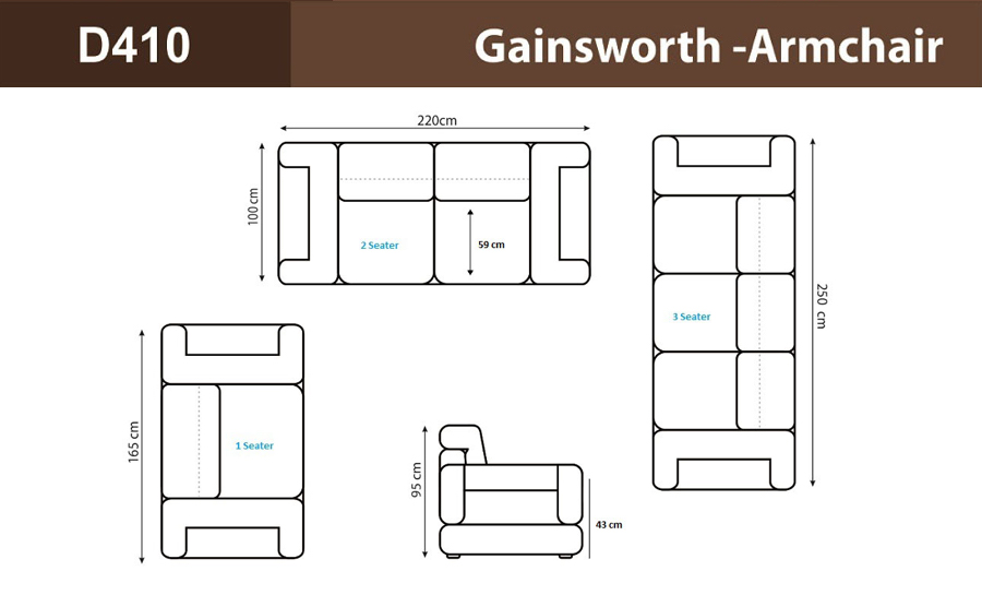 Gainsworth - Armchair Leather Sofa Set