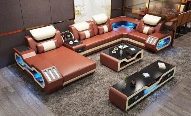 Explorer U Shape Leather Sofa