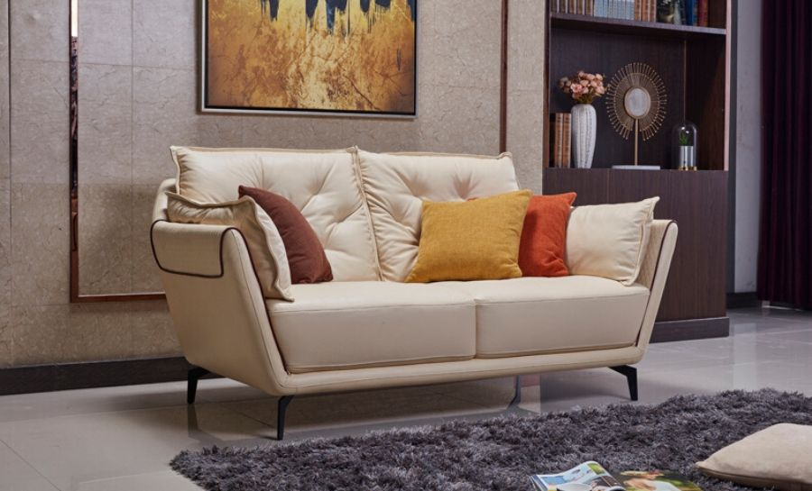 Garnet Leather Sofa Lounge Set