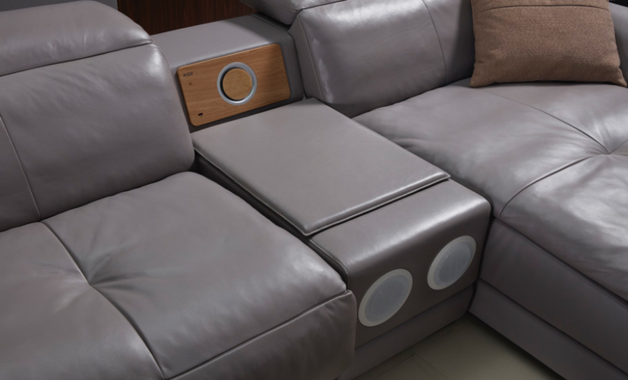 Fina - 2SC - Leather Recliner Lounge