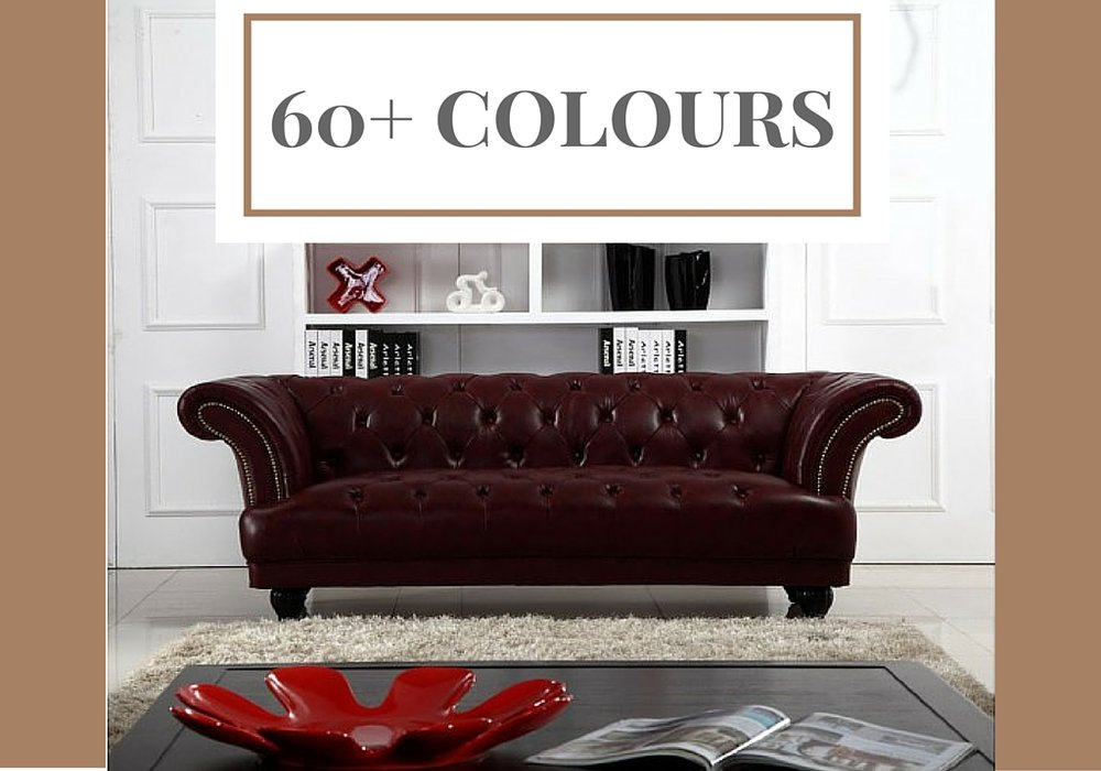 Chesterfield (Perth) Customisable Leather Sofa at Desired Living