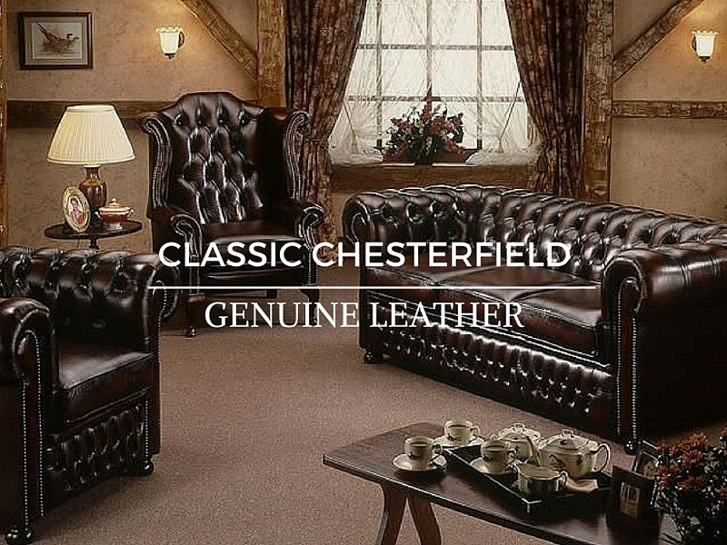 Chesterfield Perth Customisable Leather Sofa At