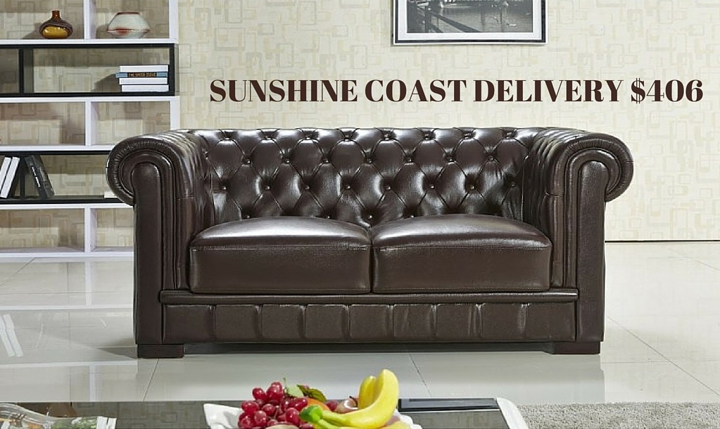 Chesterfield Sunshine Coast Customisable Leather Sofa