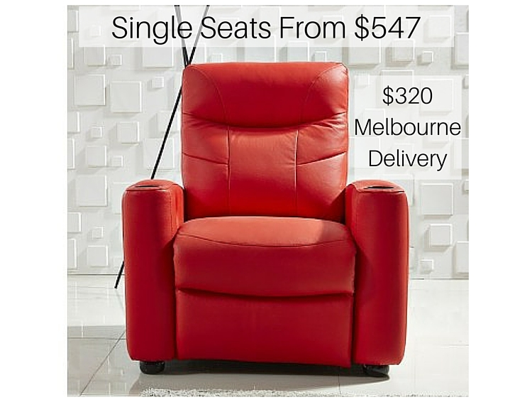 Theatre Recliner Melbourne Customisable Leather Sofa